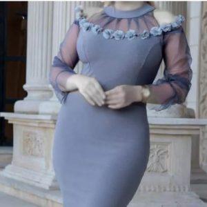 لباس مجلسی شب زنانه کوتاه(کرپ کش)